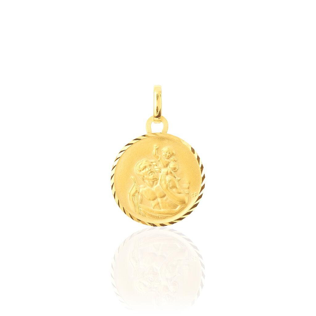 Pendentif Saint Christophe Diamante Or Jaune - Pendentifs Famille | Histoire d'Or