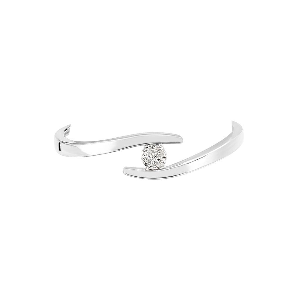 Bague Nolah Or Blanc Diamant - Bagues solitaires Femme | Histoire d'Or