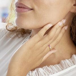 Bague Zoelia Plaque Or Jaune Perle D'imitation - Bagues avec pierre Femme | Histoire d'Or