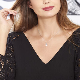 Collier Ainhoa Maille Forcat Argent Blanc Perle De Culture - Colliers Coeur Femme | Histoire d'Or