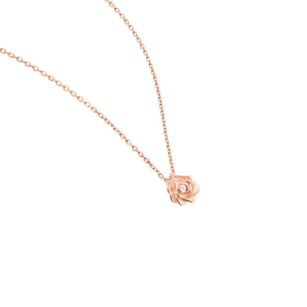Collier Jannea Argent Rose Oxyde De Zirconium - Colliers fantaisie Femme | Histoire d'Or