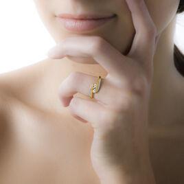 Bague Briana Or Bicolore Diamant - Bagues avec pierre Femme | Histoire d'Or