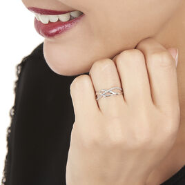 Bague Omnia Or Blanc Diamant - Bagues avec pierre Femme | Histoire d'Or