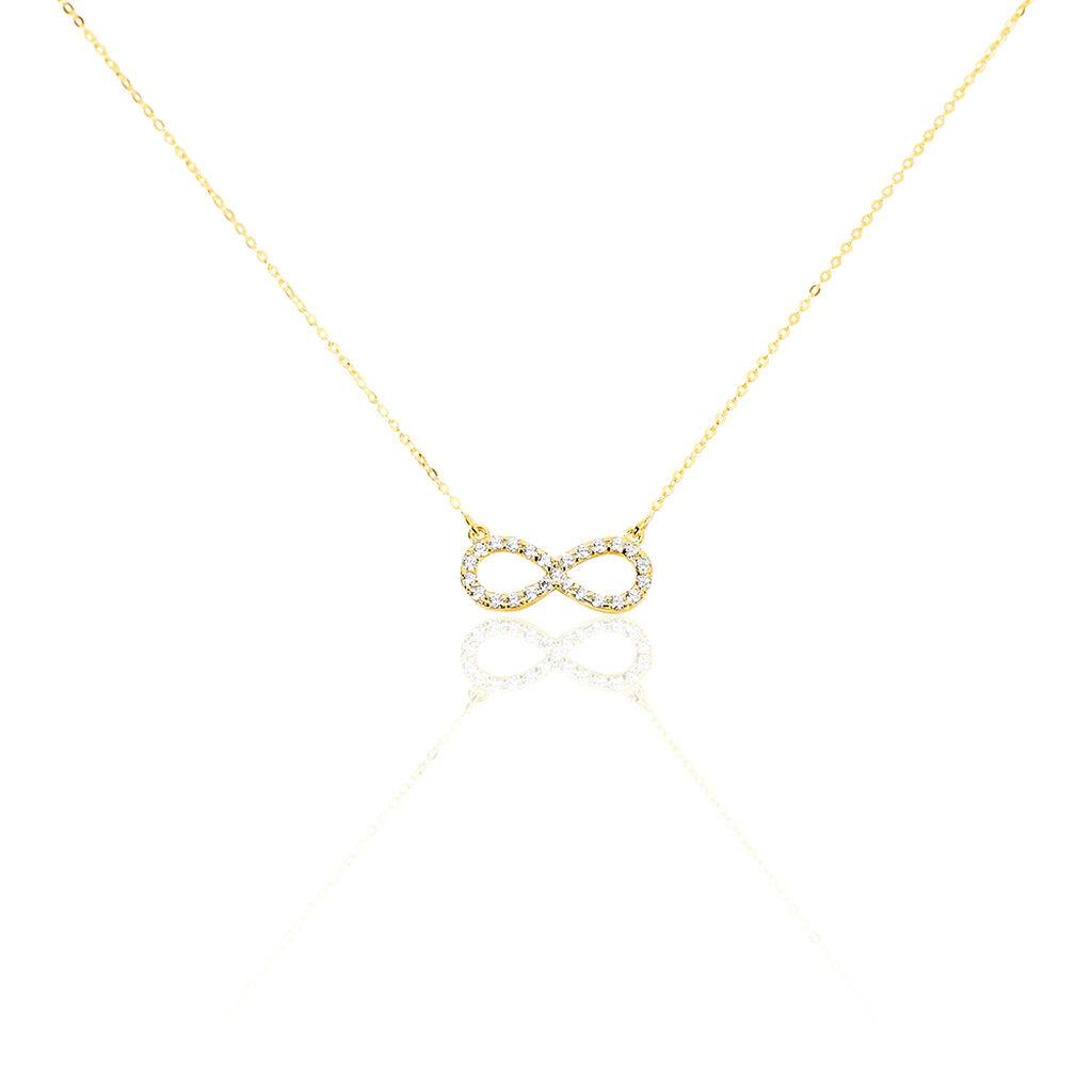 Collier Klothilda Or Jaune Oxyde De Zirconium - Colliers Infini Femme   Histoire d'Or