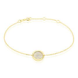 Bracelet Arina Or Jaune Oxyde De Zirconium - Bijoux Femme | Histoire d'Or