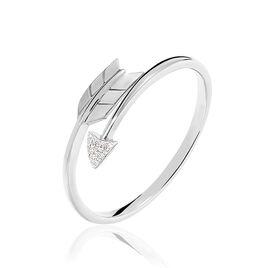 Bague Fleche Or Blanc Diamant - Bagues avec pierre Femme | Histoire d'Or