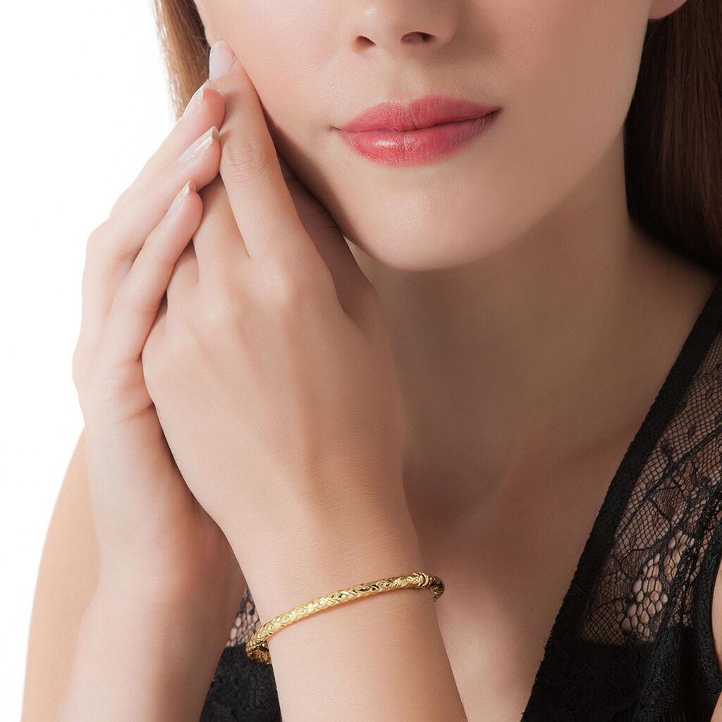 Bracelet Jonc Jennie Diamante Or Jaune - Bracelets joncs Femme | Histoire d'Or