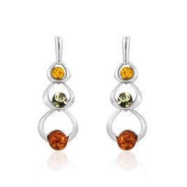 Boucles D'oreilles Argent Cercles Ambres - Boucles d'oreilles fantaisie Femme | Histoire d'Or