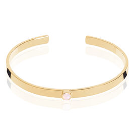 Bracelet Jonc Vaina Plaque Or Jaune Opale - Bracelets joncs Femme | Histoire d'Or