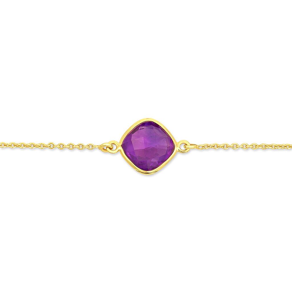 Bracelet Ambroisine Or Jaune Amethyste - Bijoux Femme | Histoire d'Or