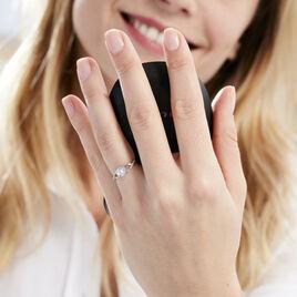 Bague Maryna Argent Blanc Oxyde De Zirconium - Bagues solitaires Femme | Histoire d'Or