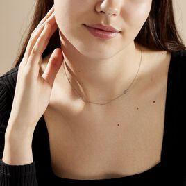 Boucles D'oreilles Puces Astria Argent Blanc - Colliers Etoile Femme | Histoire d'Or