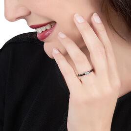 Bague Solitaire Rhodie Argent Blanc Oxyde De Zirconium - Bagues solitaires Femme | Histoire d'Or