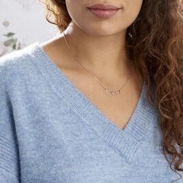 Collier Bartoumieu Argent Blanc Oxyde De Zirconium - Colliers fantaisie Femme | Histoire d'Or