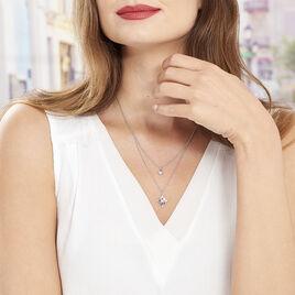 Collier Beverlie Argent Blanc Oxyde De Zirconium - Colliers Etoile Femme | Histoire d'Or