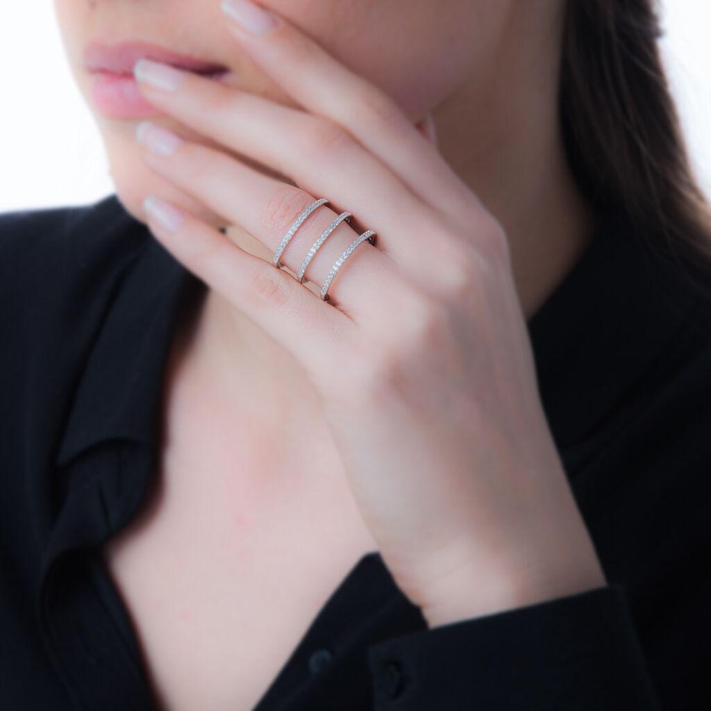 Bague Kleberte Argent Blanc Oxyde De Zirconium - Bagues avec pierre Femme | Histoire d'Or