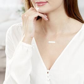 Collier Barrette Gravable Or Blanc - Bijoux Femme | Histoire d'Or