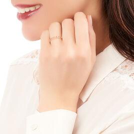 Bague Liona Or Rose Diamant - Bagues avec pierre Femme | Histoire d'Or