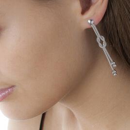Boucles D'oreilles Pendantes Deauville Argent Blanc - Boucles d'oreilles fantaisie Femme | Histoire d'Or
