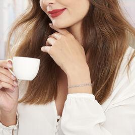 Bracelet Marie-armelle Argent Blanc - Bracelets fantaisie Femme   Histoire d'Or