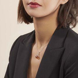 Collier Derya Argent Blanc Ambre - Colliers fantaisie Femme   Histoire d'Or