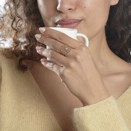 Bague Anicet Plaque Or Jaune Oxyde De Zirconium - Bagues solitaires Femme | Histoire d'Or