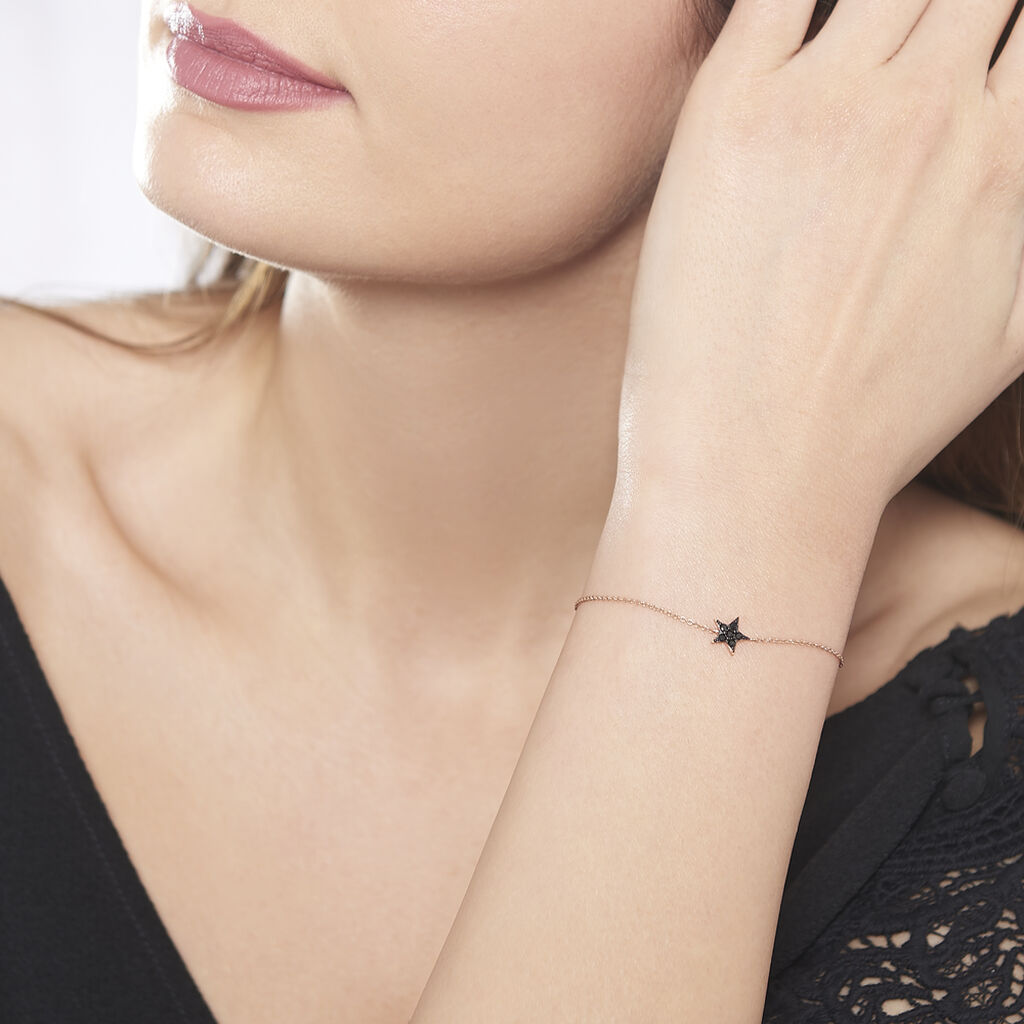 Bracelet Aliciana Argent Rose Oxyde De Zirconium - Bijoux Etoile Femme   Histoire d'Or