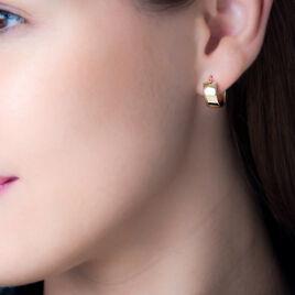 Créoles Telly Jonc Plat Or Jaune - Boucles d'oreilles créoles Femme | Histoire d'Or