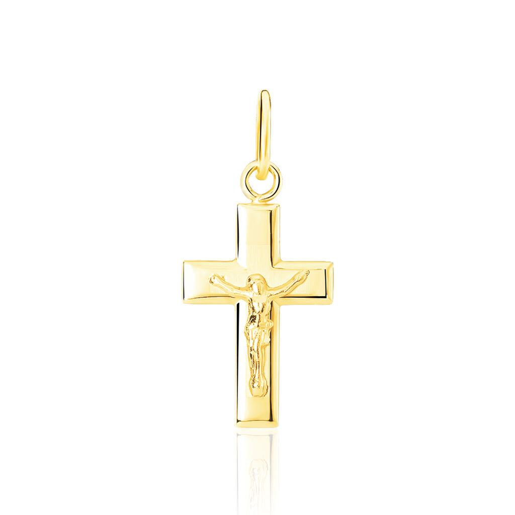 Pendentif Damian Croix Or Jaune - Pendentifs Croix Famille | Histoire d'Or