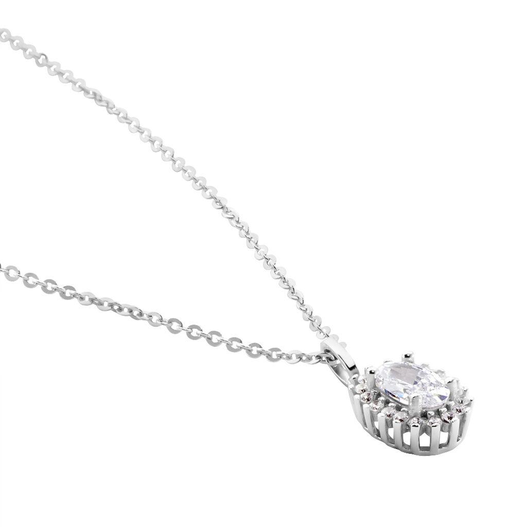 Collier Havoise Argent Blanc Oxyde De Zirconium - Colliers fantaisie Femme | Histoire d'Or