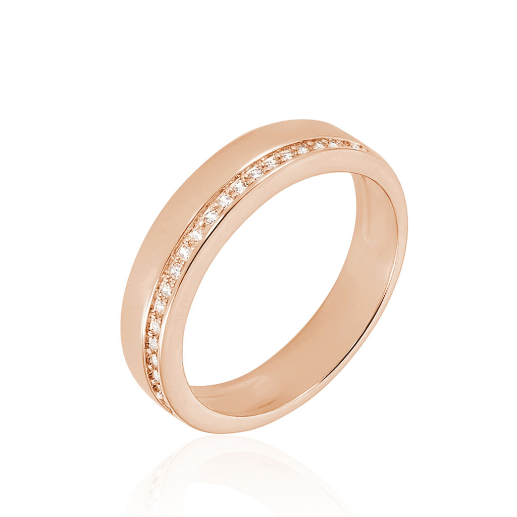 Bague Jollie Plaque Or Rose Oxyde De Zirconium