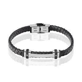 Bracelet Ludovic Acier Blanc Oxyde De Zirconium - Bracelets fantaisie Homme   Histoire d'Or
