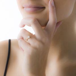 Bague Alissonne Or Jaune Oxyde De Zirconium - Bagues solitaires Femme | Histoire d'Or