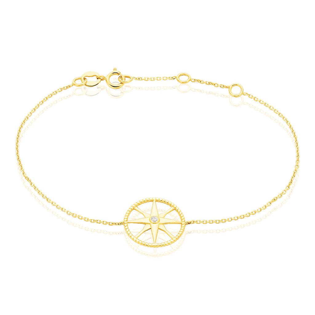 Bracelet Thalina Or Jaune Oxyde De Zirconium - Bijoux Etoile Femme   Histoire d'Or