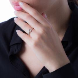 Bague Akemi Or Rose Diamant - Bagues avec pierre Femme | Histoire d'Or