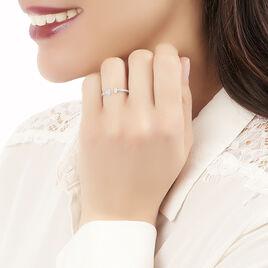 Bague Elisha Or Blanc Diamant - Bagues avec pierre Femme | Histoire d'Or