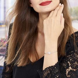 Bracelet Jonc Katialina Argent Blanc Oxyde De Zirconium - Bracelets fantaisie Femme | Histoire d'Or