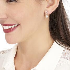 Boucles D'oreilles Pendantes Taiss Or Jaune Perle De Culture - Boucles d'oreilles pendantes Femme | Histoire d'Or