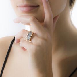 Bague Guerline Plaque Or Jaune Oxyde De Zirconium - Bagues avec pierre Femme | Histoire d'Or