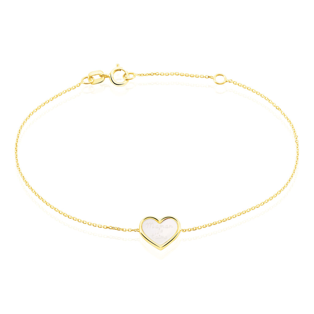 Bracelet Josine Or Jaune Nacre - Bracelets Coeur Femme | Histoire d'Or