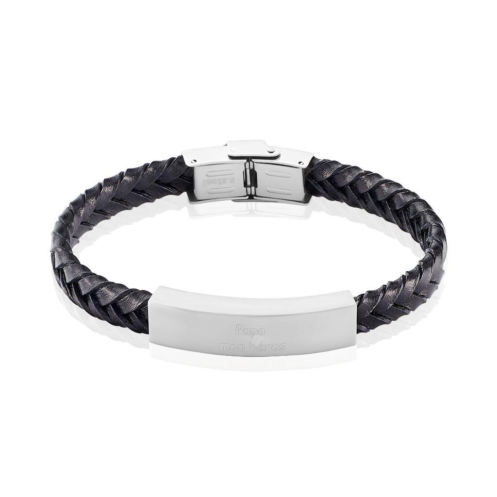 Bracelet Oxanne Acier Blanc - Bracelets fantaisie Homme | Histoire d'Or