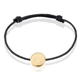 Bracelet Ignacieae Plaque Or Jaune Diamant - Bracelets cordon Femme | Histoire d'Or