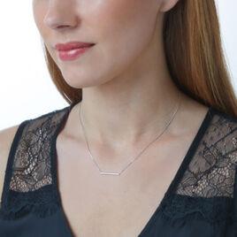 Collier Alayna Or Blanc Diamant - Bijoux Femme   Histoire d'Or