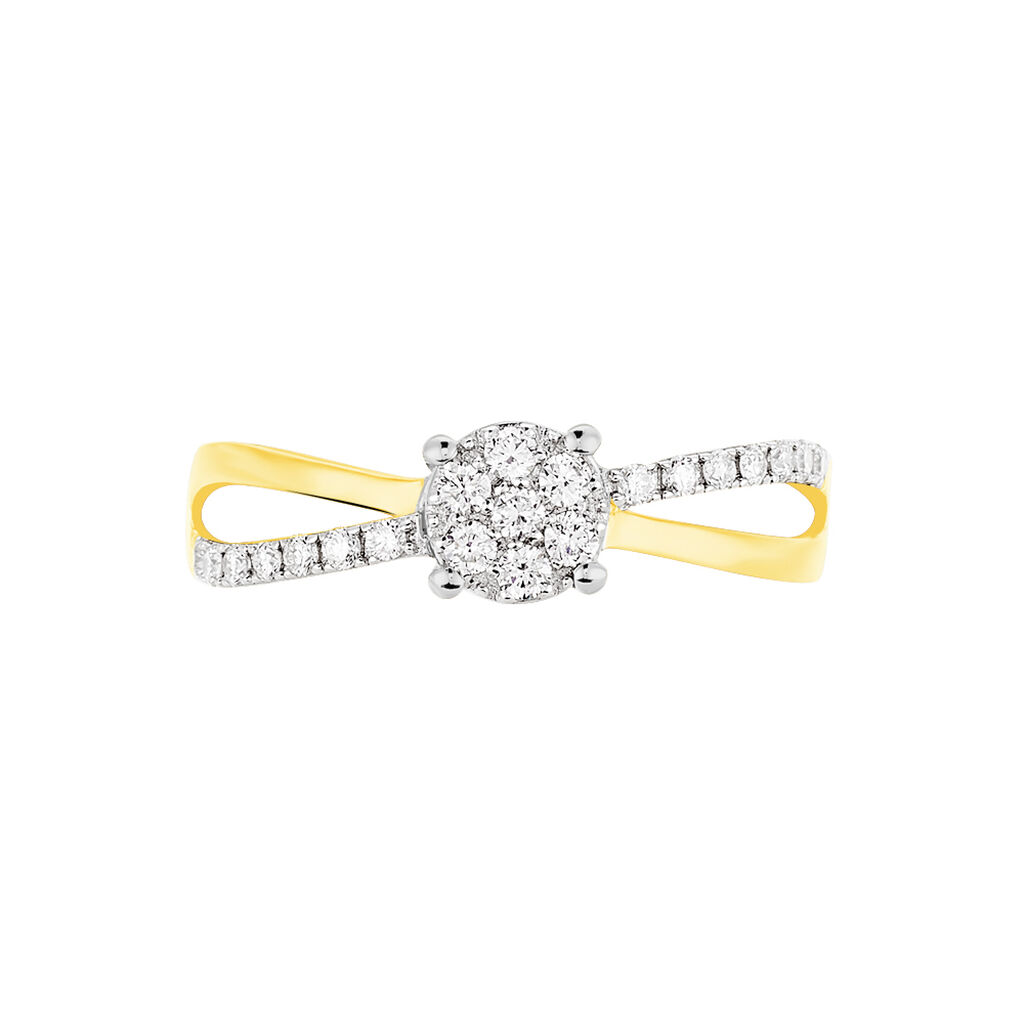 Bague Solitaire Shonah Or Bicolore Diamant