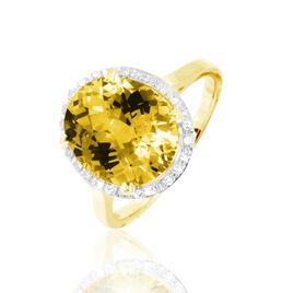 Bague Anna Or Jaune Citrine Et Diamant - Bagues solitaires Femme | Histoire d'Or