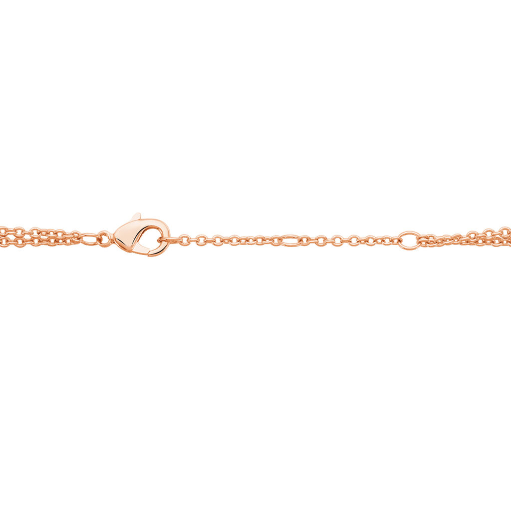 Bracelet Ophelie Plaque Or Rose Oxyde De Zirconium