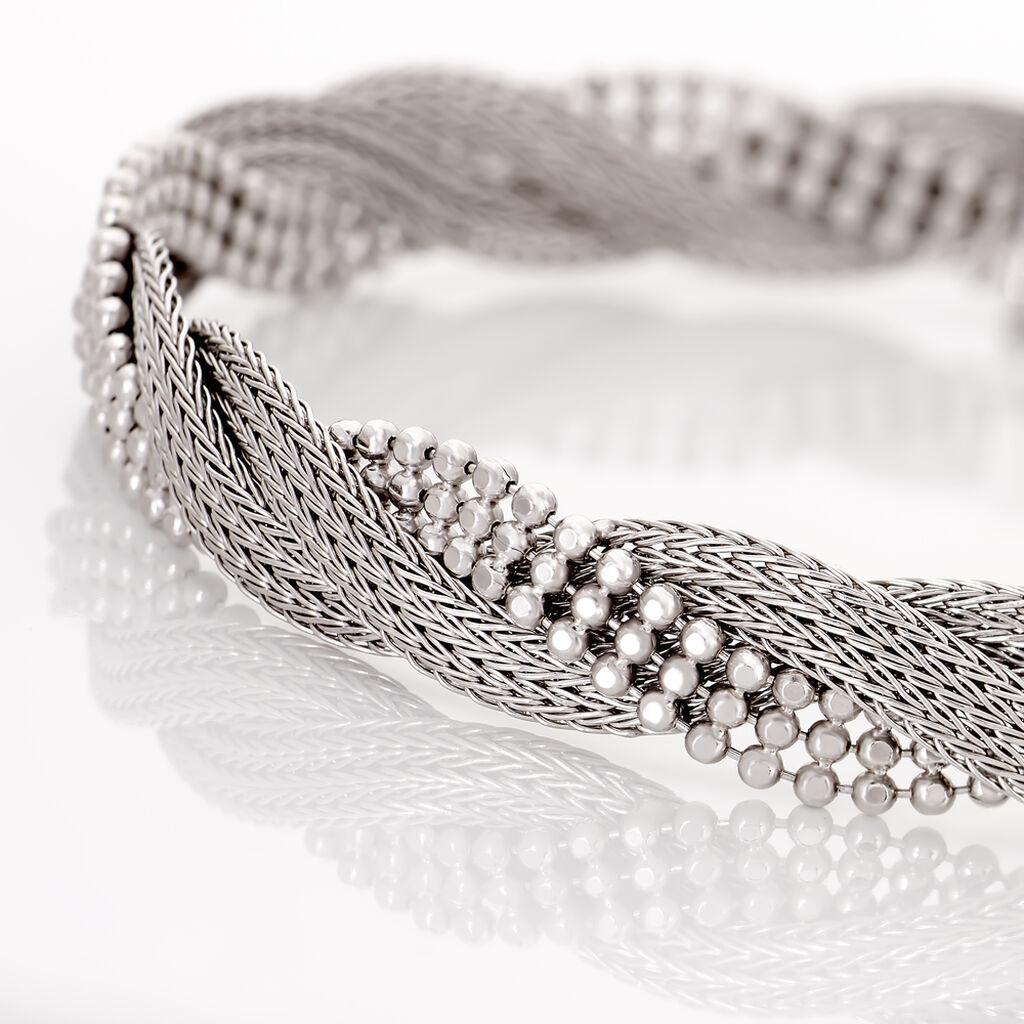 Bracelet Sheridan Argent Blanc - Bijoux Femme | Histoire d'Or