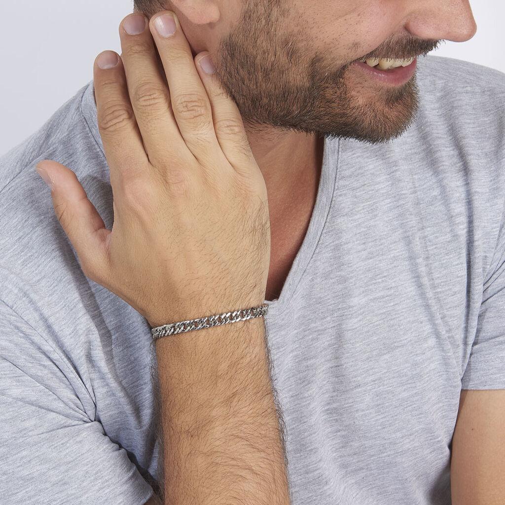 Bracelet Frederic Acier Blanc - Bracelets fantaisie Homme | Histoire d'Or
