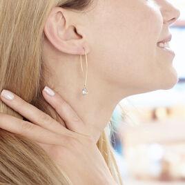 Créoles Phie Poire Or Jaune Topaze - Boucles d'oreilles créoles Femme | Histoire d'Or