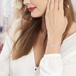 Bracelet Amy Argent Blanc Oxyde De Zirconium - Bracelets fantaisie Femme   Histoire d'Or